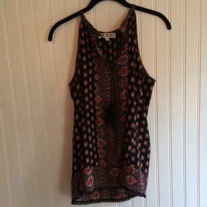 Tops - Paisley Boho patterned tunic top